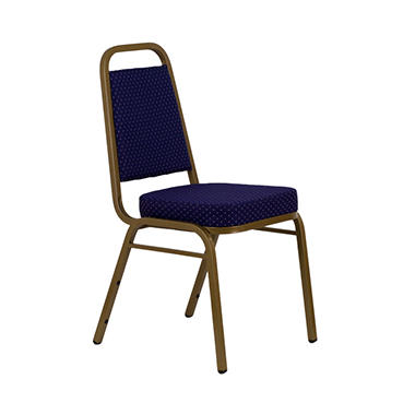 Fabric Banquet Chair, Navy Blue - 20 Pack