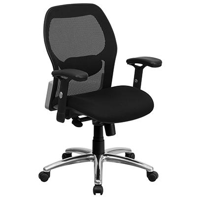 Mesh Office Chair with a Black Mesh Seat