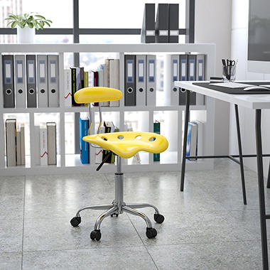Flash Furniture Tractor Seat Task Chair Yellow