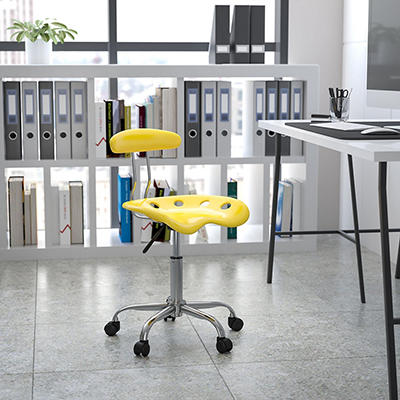 Flash Furniture - Tractor Seat Task Chair - Yellow