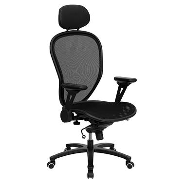Super All-Metal Mesh Office Chair with Headrest