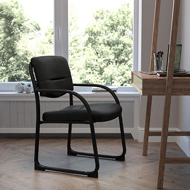 Flash Furniture Fabric Executive Side Chair with Sled Base - Black