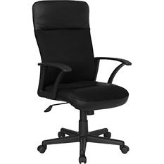 Flash Furniture High Back Leather & Mesh Combination Executive Office Chair, Black