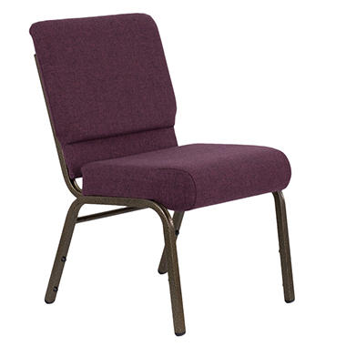 Hercules - Extra Wide Stacking Church Chair with Gold Vein Frame, Plum