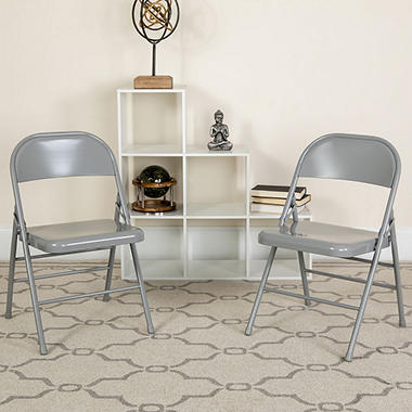 Hercules - Metal Folding Chairs - 4 Pack