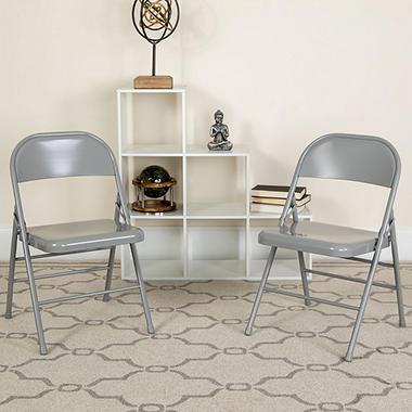 Hercules - Metal Folding Chairs - 4 Pack