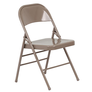 OFFLINE Hercules Metal Folding Chairs, Beige