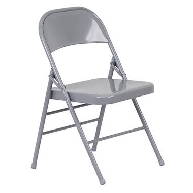 OFFLINE Hercules Metal Folding Chairs, Gray