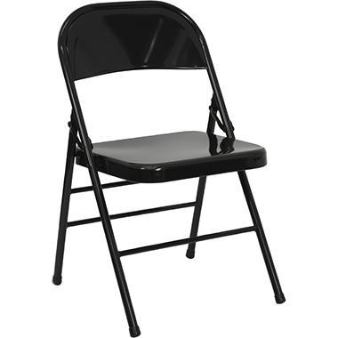 OFFLINE Hercules Metal Folding Chairs, Black