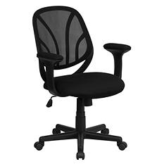 Flash Furniture - Mid-Back Black Mesh Office Chair
