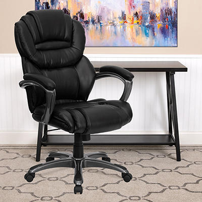 Flash Furniture - High Back Leather Executive Office Chair - Black
