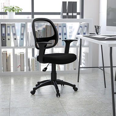 Flash Furniture - Mid-Back Mesh Computer Chair - Black