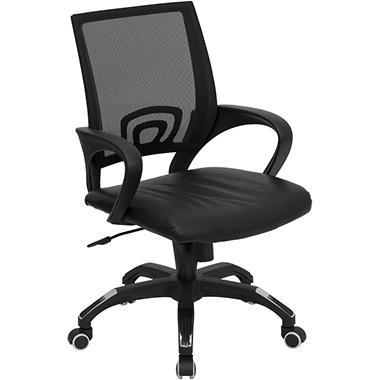 Flash Furniture - Mid-Back Black Mesh Computer Chair