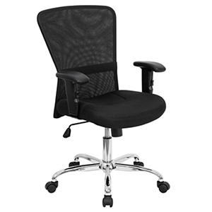Mid-Back Black Mesh Computer Chair