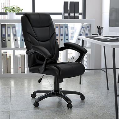 High Back Black Leather Executive Office Chair Sam 39 S Club