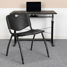 Hercules Polypropylene Stacking Chair Black