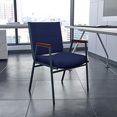 Hercules - Fabric Padded Chair with Arms - Navy