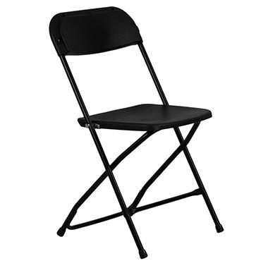 Hercules - Premium Folding Chair, Black - 20 Pack