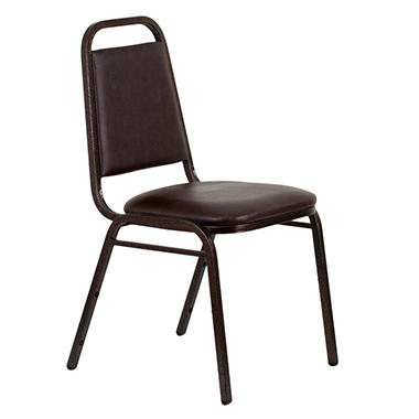 Hercules Vinyl Banquet Stacking Chairs, Brown - 40 Pack