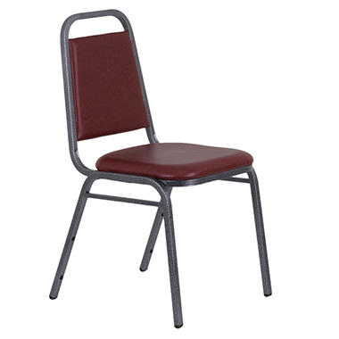 Hercules Vinyl Banquet Chair, Burgundy - 40 Pack