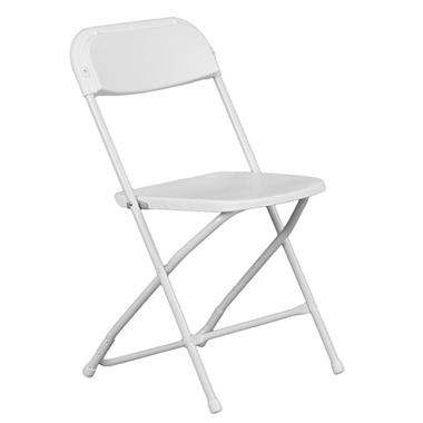 Hercules - Premium White Folding Chair - 40 Pack