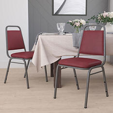 Flash Furniture Hercules Series Vinyl Banquet Chair Burgundy