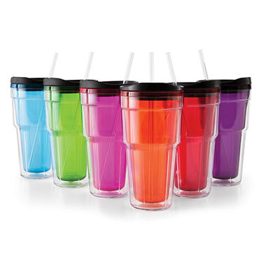 Tumblers with Lids Set - 24 oz. - 6 pc.