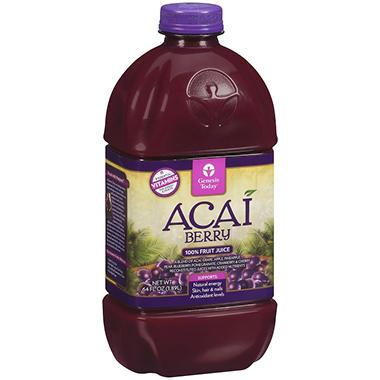 Genesis Today™ Acai Berry 100% Fruit Juice - 64 oz.
