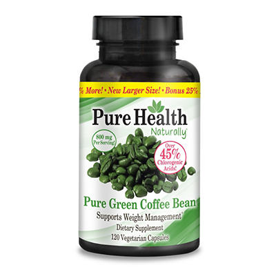 Pure Health Pure Green Coffee Bean Healthy Weight Management Dietary Supplement - 120 ct.