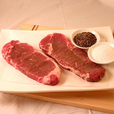 Steakhouse Certified Savory New York Strip Steaks - 8 oz. - 8 ct. case