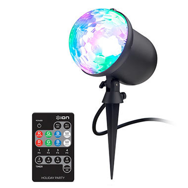 Ion Holiday Party Multi Color Indoor Outdoor Projector Led