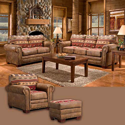 Sierra Lodge Living Room Set - 4 pc.