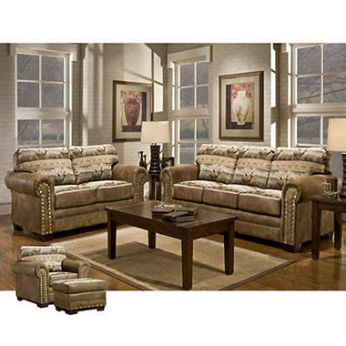 Rocky Mountain Elk Living Room Set - 4 pc.
