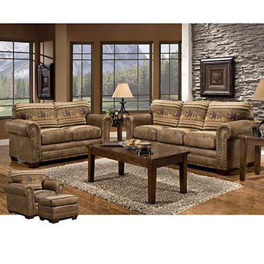 Wild Horses Living Room Group - 4 pc..