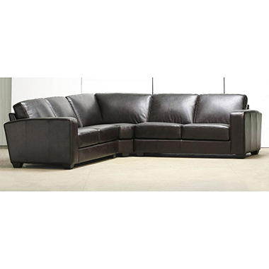 Leather Sectional Sofa - 3 pc.