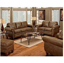 Sedona Nailhead Living Room Set - 4 pc.