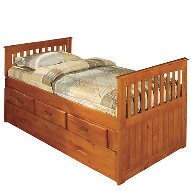 Twin Rake Bed - Honey.