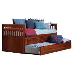 Twin Rake Bed - Merlot
