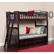 Twin/Twin Bunk Bed - Espresso