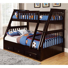 Twin over Full Bunkbed, Espresso