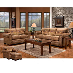 Wild Horses Sleeper Sofa, Loveseat, Chair and Ottoman, 4-Piece Set