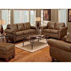 Sedona Sleeper Sofa, Loveseat, Chair and Ottoman, 4-Piece Set