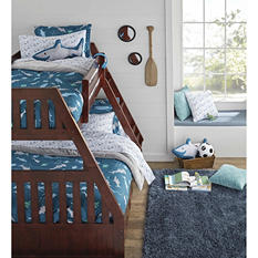 Twin/Full Bunk Bed with 5 Drawer Chest (Various Colors)