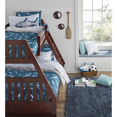 Twin/Full Bunk Bed with 5 Drawer  2818-5-TFM