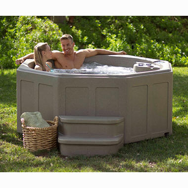 LifeSmart Carribean 5 Person Spa with Matching Step, Original Price $2799.00, SAVE $350.00
