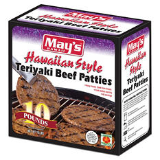May's Hawaii Teriyaki Beef Patties (10 lbs., 40 ct.)