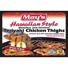 May's Hawaiian Style Teriyaki Chicken Thighs - 10 lb.
