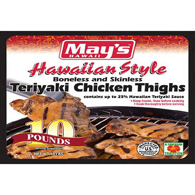 May's Hawaii Teriyaki Chicken Thighs (10 lb.)