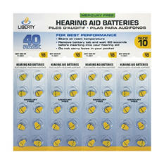 Liberty Hearing Aid Battery #10A (40 ct.)