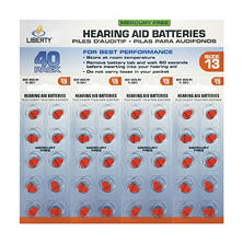Liberty Hearing Aid Battery #13 (40 ct.)